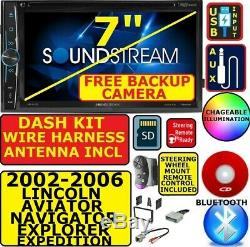 02-06 Ford Expedition Explorer Lincoln Aviator Navigator Bluetooth Cd/dvd Sd Aux