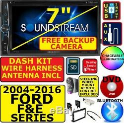 2004-16 FORD F & E SERIES BLUETOOTH CD/DVD USB CAR STEREO With FREE BACKUP CAM