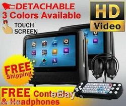2019 Dual 9 Digital Touchscreen Touch Headrest LCD Car Monitor DVD Player Usb