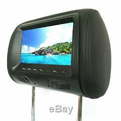 2 pcs 7 TFT LCD Screen Car Pillow Headrest Monitor