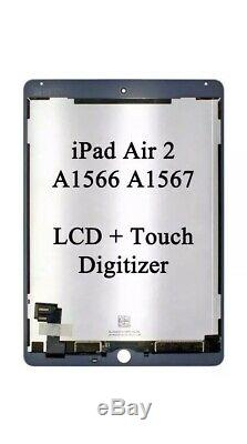 Apple iPad Air 2 iPad 6 Replacement LCD Digitizer Touch Screen WHITE OEM