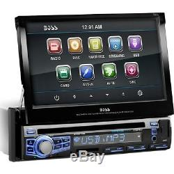 Boss Bv9976b Car Dvd Player 7 Touchscreen Lcd Single Din Dvd Video, Video
