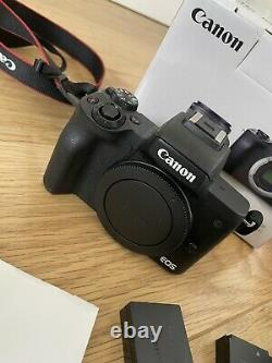 Canon EOS M50 3 Inch LCD 24.1mp 4k WiFi Built in Flash With Vlogger Kit Black