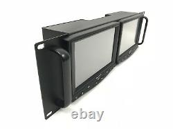 DELVCAM DELV-7HDRM HD/Analog Dual Rackmount LCD Monitor with Touchscreen