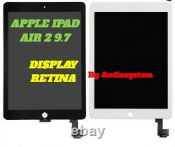 Display LCD Retina Touch Screen Apple Ipad 6 Air 2 9.7 A1566 A1567 Vetro Schermo