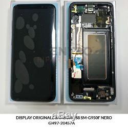 Display LCD Touch Screen Originale Samsung Galaxy S8 Sm-g950f Nero Black