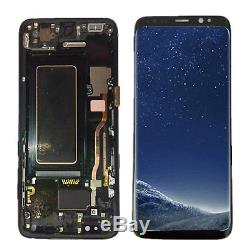 Display LCD Touch Screen Schermo Telaio Per Samsung Galaxy S8 G950 SM-G950F Nero
