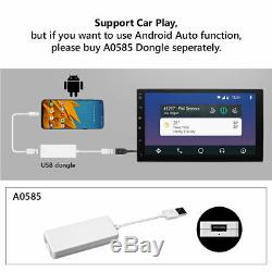 Double 2Din Car Radio Stereo GPS Navi Player Bluetooth AUX USB SD Touch Screen E