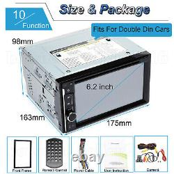 Double DIN 6.2 Inch In dash Car Stereo Radio CD DVD LCD Player Bluetooth MP3 New