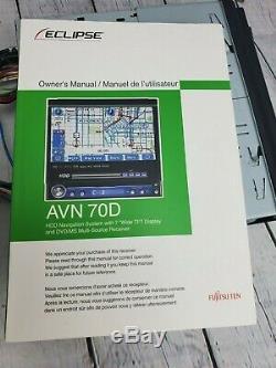 Eclipse AVN70D DVD/CD/MP3/Nav Multimedia Player 7 LCD Touch Screen Single Din