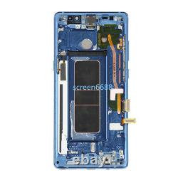 For Samsung Galaxy Note 8 N950F LCD Display Touch Screen+Frame Replacement Blue