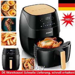 Friteuse Heißluft Fritteuse 5L Heißluft Ofen LCD-Touchscreen-Fritteuse 1500W DE