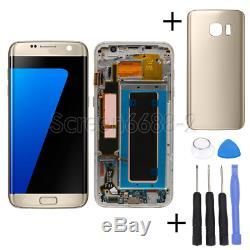 Für Samsung Galaxy S7 Edge G935F LCD Display Touch Screen Bildschirm+Rahmen Gold