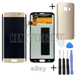 Für Samsung Galaxy S7 Edge SM-G935F LCD Display Touchscreen Digitizer Gold+Cover