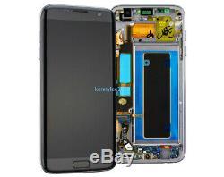 Für Samsung Galaxy S7 Edge SM-G935F LCD Display Touchscreen Rahmen schwarz+cover