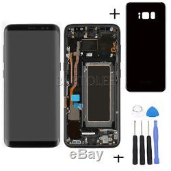 Für Samsung Galaxy S8 SM-G950F LCD Display Touchscreen & Rahmen Schwarz + Cover
