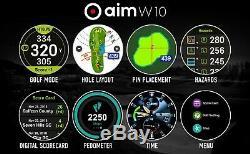 GOLFBUDDY Aim W10 2020 Model Golf GPS Smart Watch Touch Screen LCD Display