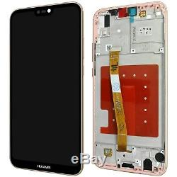 Huawei P20 Lite Komplettes LCD Display Touchscreen Sakura Pink + Mit Rahmen