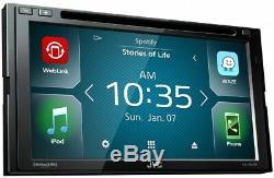 JVC KW-V640BT 2 DIN DVD/CD Player 6.8 LCD Spotify Pandora Bluetooth SiriusXM