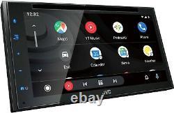 JVC KW-V66BT 2 DIN DVD/CD Player 6.8 LCD Spotify Pandora Bluetooth SiriusXM