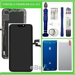 LCD Display für iPhone X 10 RETINA HD Bildschirm 3D Touch Screen Schwarz Black