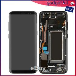 LCD Touch Screen Display Digitizer Assembly For Samsung Galaxy S8 Frame Black