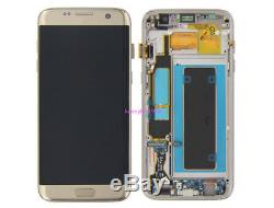 Lcd display touch screen+frame Per Samsung Galaxy S7 edge G935F oro+cover+tool