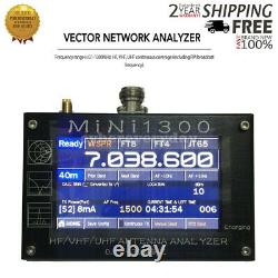Mini1300 HF/VHF/UHF Antenna Analyzer 0.1-1300MHz with 4.3Inch TFT LCD Touch Screen
