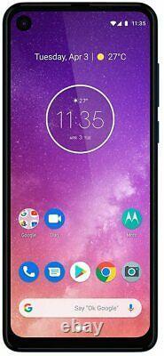 Motorola One Vision (128GB, 4GB) 6.3 219 LCD 4G LTE GSM Unlocked XT1970-2 BLUE
