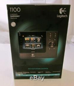 NEVER USED Logitech Harmony 1100 Touch Screen LCD Remote Control SHIPS FAST