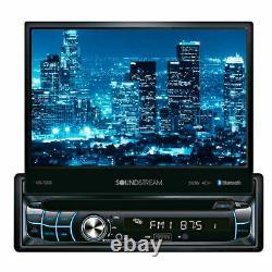 NEW Soundstream 1 Din VR-720B DVD/CD Player Flip Up 7 LCD Bluetooth SD USB AUX