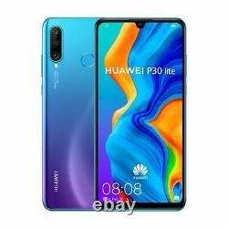 New Huawei P30 Lite Blue 128GB 4G LTE 6.15 LCD GPS 48MP Unlocked Smartphone