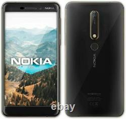 New Nokia 6.1 Black 32GB Dual Sim 5.5 LCD 3GB Ram Android Sim-Free Smartphone