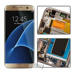 OEM New LCD Display Glass Digitizer Frame For Samsung Galaxy S7 Edge G935F Gold
