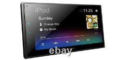 Pioneer DMH-340EX Double 2 DIN MP3/WMA Digital Media Player 6.8 LCD Bluetooth