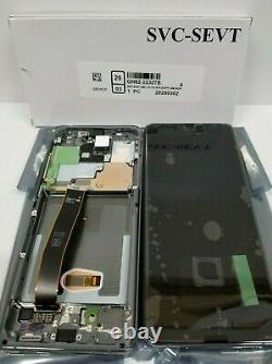 SAMSUNG Galaxy S20 Ultra Gray Silver LCD Touch Screen Digitizer Frame G988 OEM