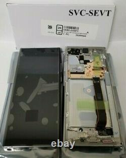 Samsung galaxy Note 20 Ultra White LCD Touch Screen Digitizer + Frame N986 OEM