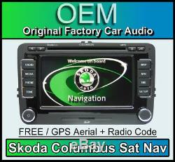 Skoda Columbus Sat Nav car stereo, Superb Navigation radio CD player 2019 MAPS