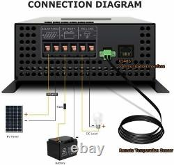 Solar Laderegler MPPT Charge Controller 60A 12/24/36/48V auto LCD Screen Touch