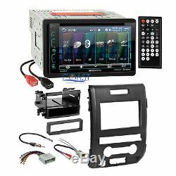 Soundstream 2018 DVD Bluettooth Stereo Dash Kit Harness for 2009-12 Ford F-150