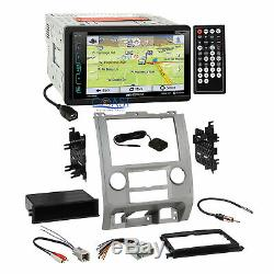 Soundstream GPS Bluetooth Stereo Silver Dash Kit Harness for Ford Mercury Mazda