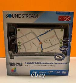 Soundstream VRN-624B 2-din Aptix Source Unit With Igo Gps Bluetooth & 6.2 LCD