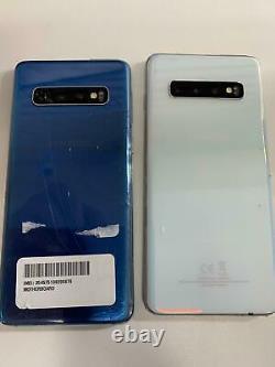 Unlocked Samsung Galaxy S10 SM-G973U (AT&T) CRACKED GLASS, BAD LCD Phone