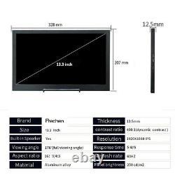 10,1 Écran Tactile Tragbarer Gaming Monitor LCD Display 13,3-zoll-tablet Monitor