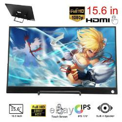 15,6 Moniteur Pc Portable Hd 1080p Écran Tactile Ips LCD Pour Ordinateur Portable Xbox