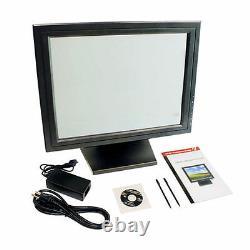 15pos Écran Tactile LCD Moniteur Tactile Kiosque Restaurant Bar Einzelhandel Usb