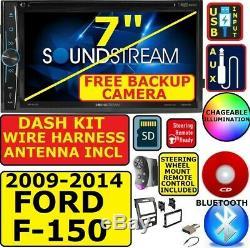 2009-14 Ford F150 CD / DVD Bluetooth Usb Aux Voitures Radio Stéréo Avec Free Backup Cam