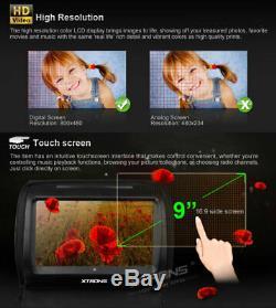 2x 9 Voiture Appui-tête Moniteur Lecteur DVD LCD Tft Tactile Numérique Covers Zipper Écran