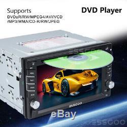6.2 Dans Le Tableau De Bord De Voiture Radio Stéréo Lecteur DVD LCD Bt Sat Nav Compatible Double Din