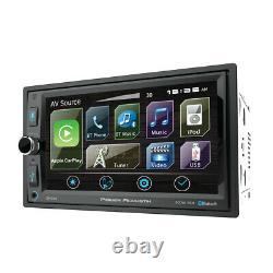 6.5 Bluetooth Radio Am/fm Mp3 Usb Apple Car Play Double Din LCD Écran Tactile